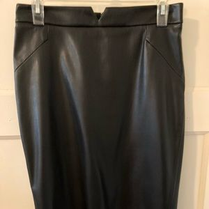 leather Pencil Skirt. Fantastic fit! High waist